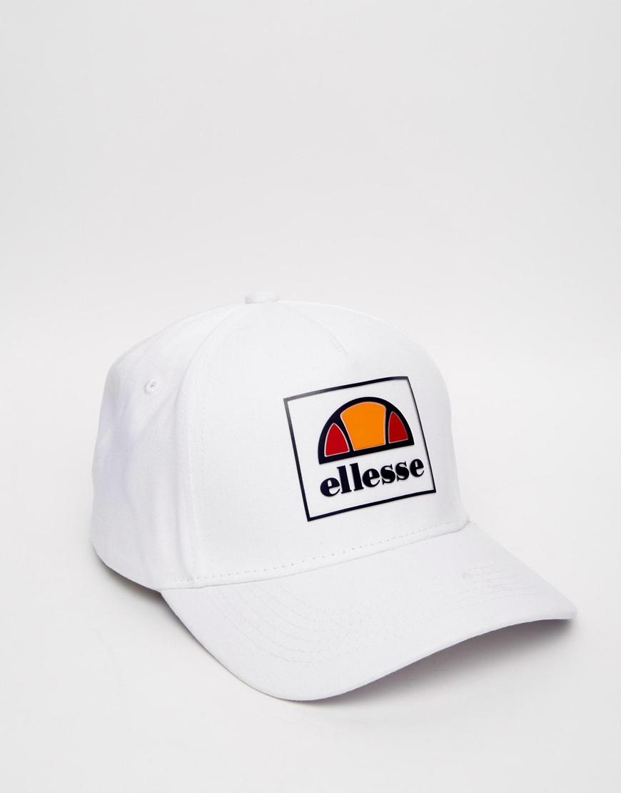 Lyst - Ellesse Box Logo Baseball Cap Exclusive To Asos in White for Men 8a629887398