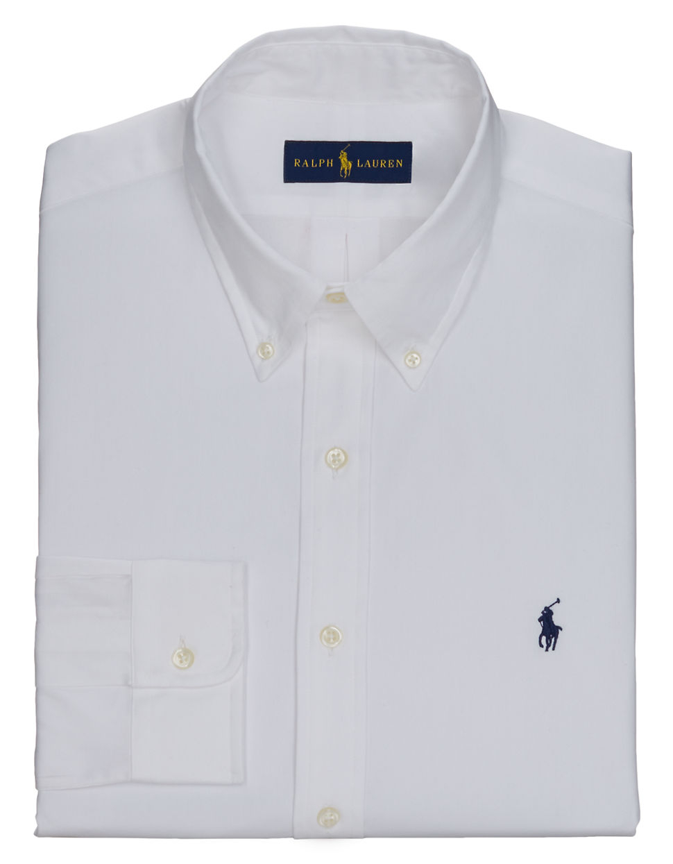Polo Ralph Lauren Pinpoint Oxford Dress Shirt In White For