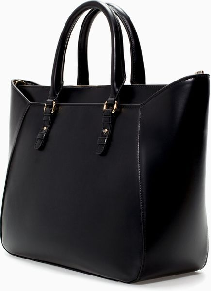 Zara Shopper Bag Black Zara Shopper Bag in Black
