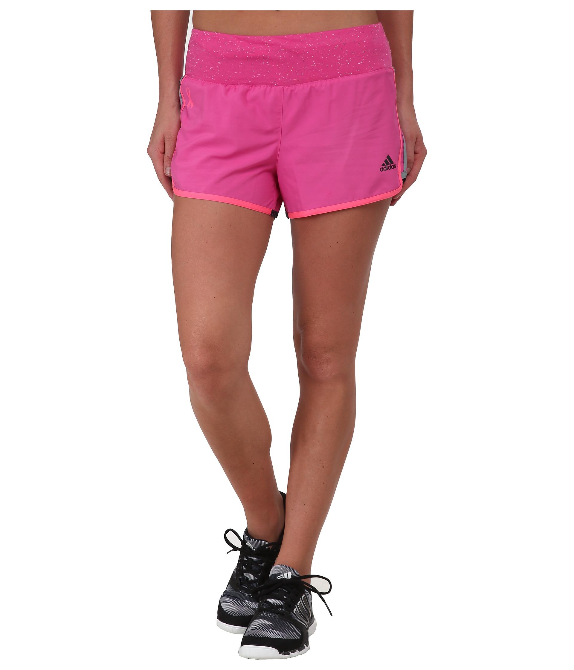 adidas AKTIV M10 Shorts - Pink Ribbon Intense Pink Women's Running Shorts 8547698