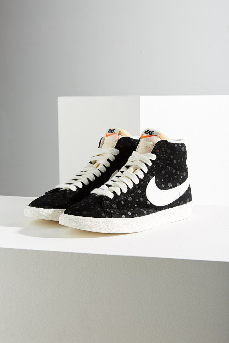 132eb711cf84 clearance lyst nike womens blazer mid suede vintage sneaker in black f582a  18aa9