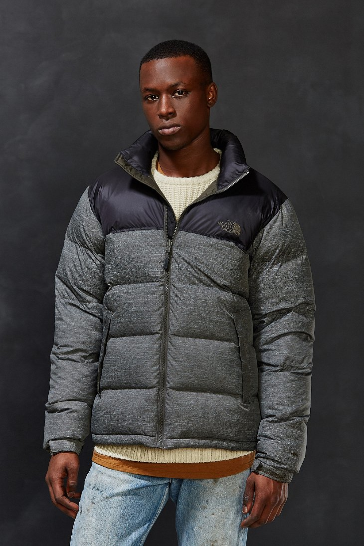 Lyst The North Face Nuptse Jacket In Gray For Men
