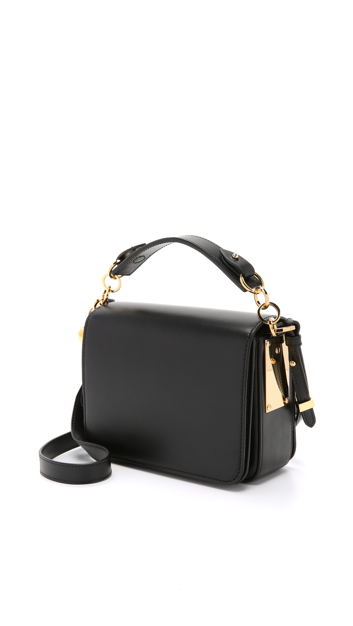 Sophie hulme Structured Cross Body Messenger Bag - Black in Black ...