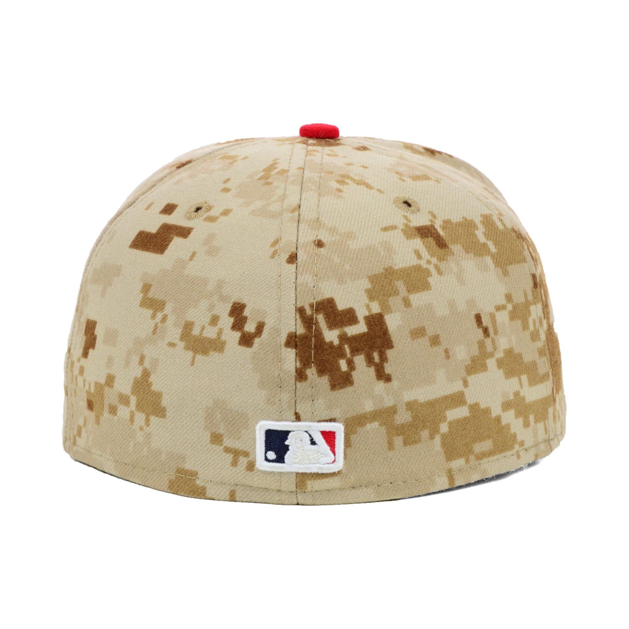 Lyst - KTZ Atlanta Braves Stars and Stripes 59fifty Cap in Natural ... 3aaf6fbd4f24