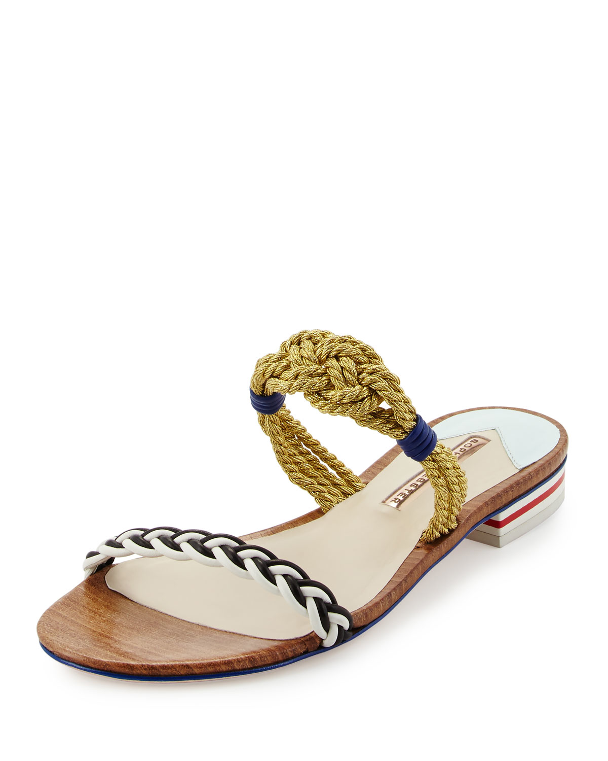 Sophia Webster Perforated Slide Sandals free shipping buy sale best sale Ad6W1M
