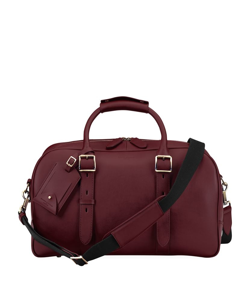 Aspinal Small Harrison Weekender Travel Bag in Purple for Men | Lyst