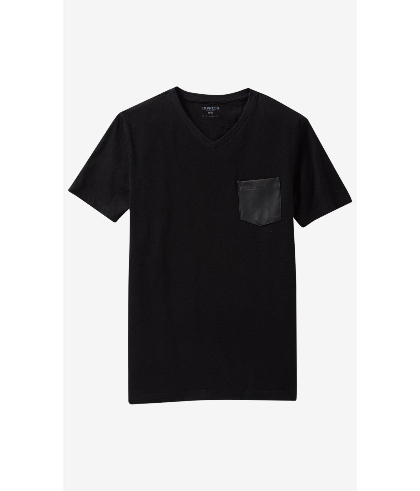 Black t shirt express - Black T Shirt Express Express Black V Neck Minus The Leather Pocket T Shirt In