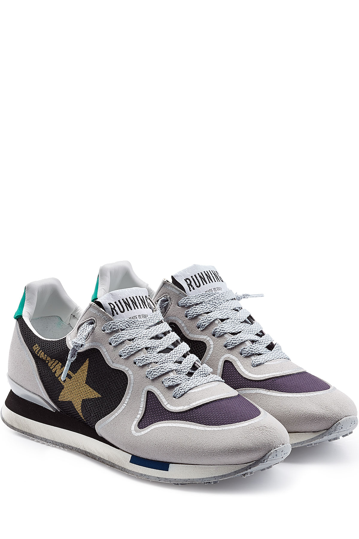 Golden Brand Running Deluxe With Suede Lyst Sneakers Goose Grey dFHdT