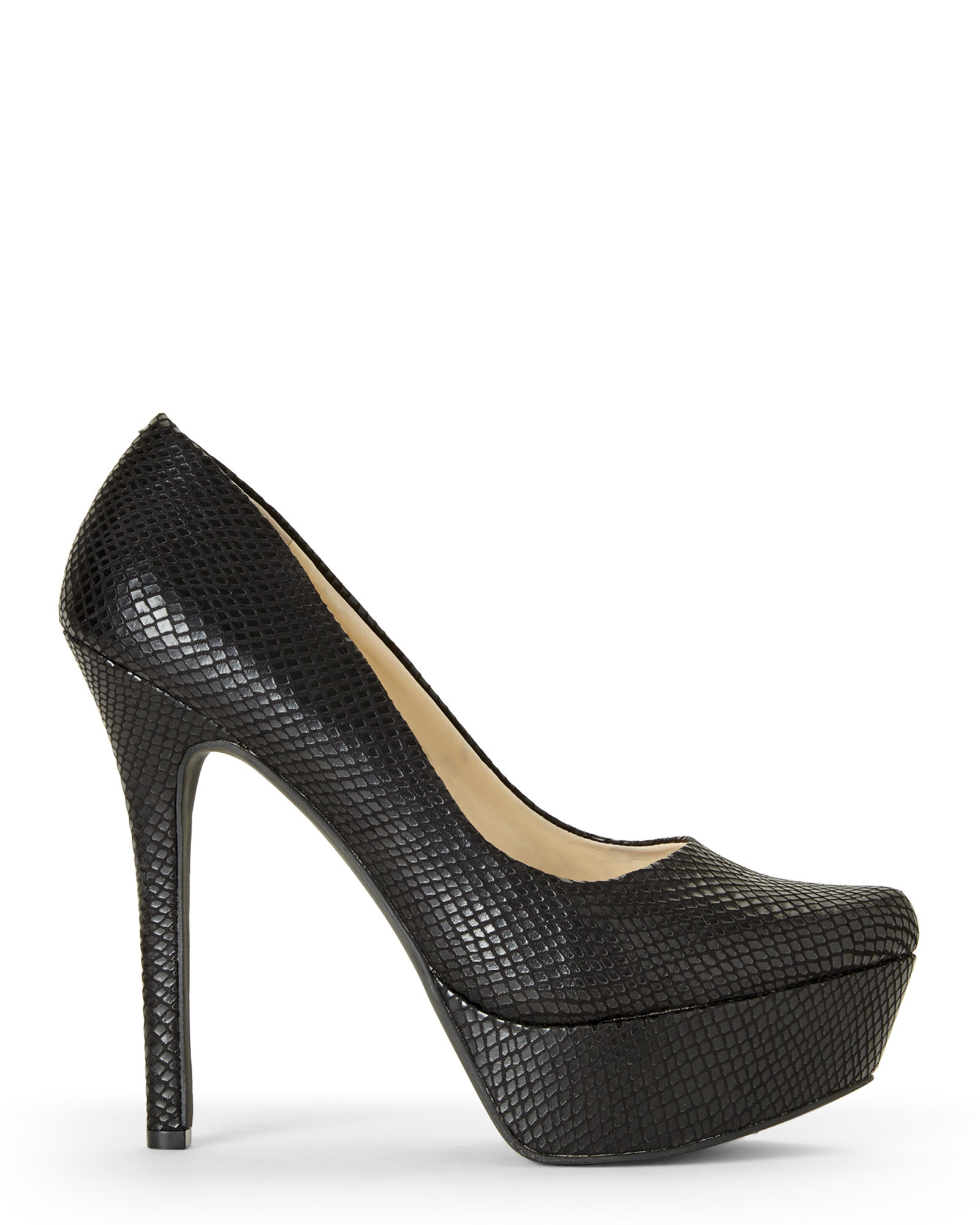 590e22d85681 Jessica Simpson Black Waleo Platform Pumps in Black - Lyst