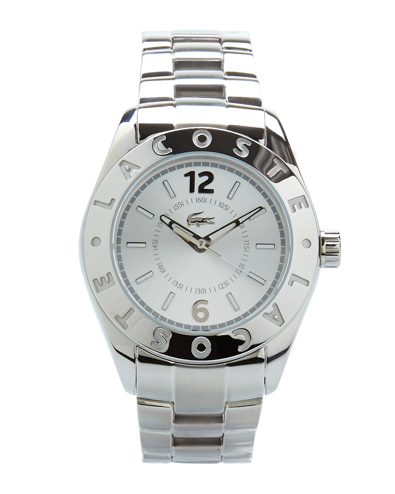 Lacoste Silver-tone Logo Watch in Silver | Lyst