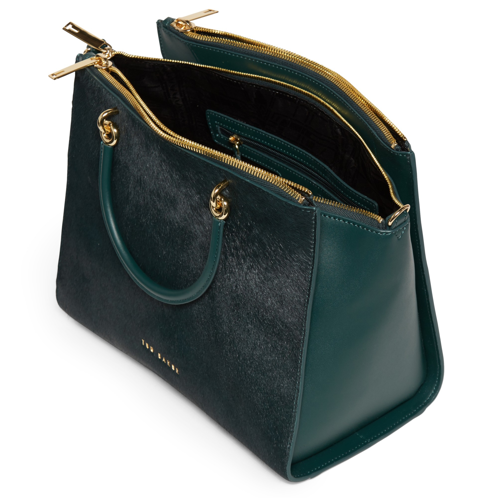 ba41d62007c Ted Baker Louisa Large Leather Cross Body Tote Bag in Green Lyst