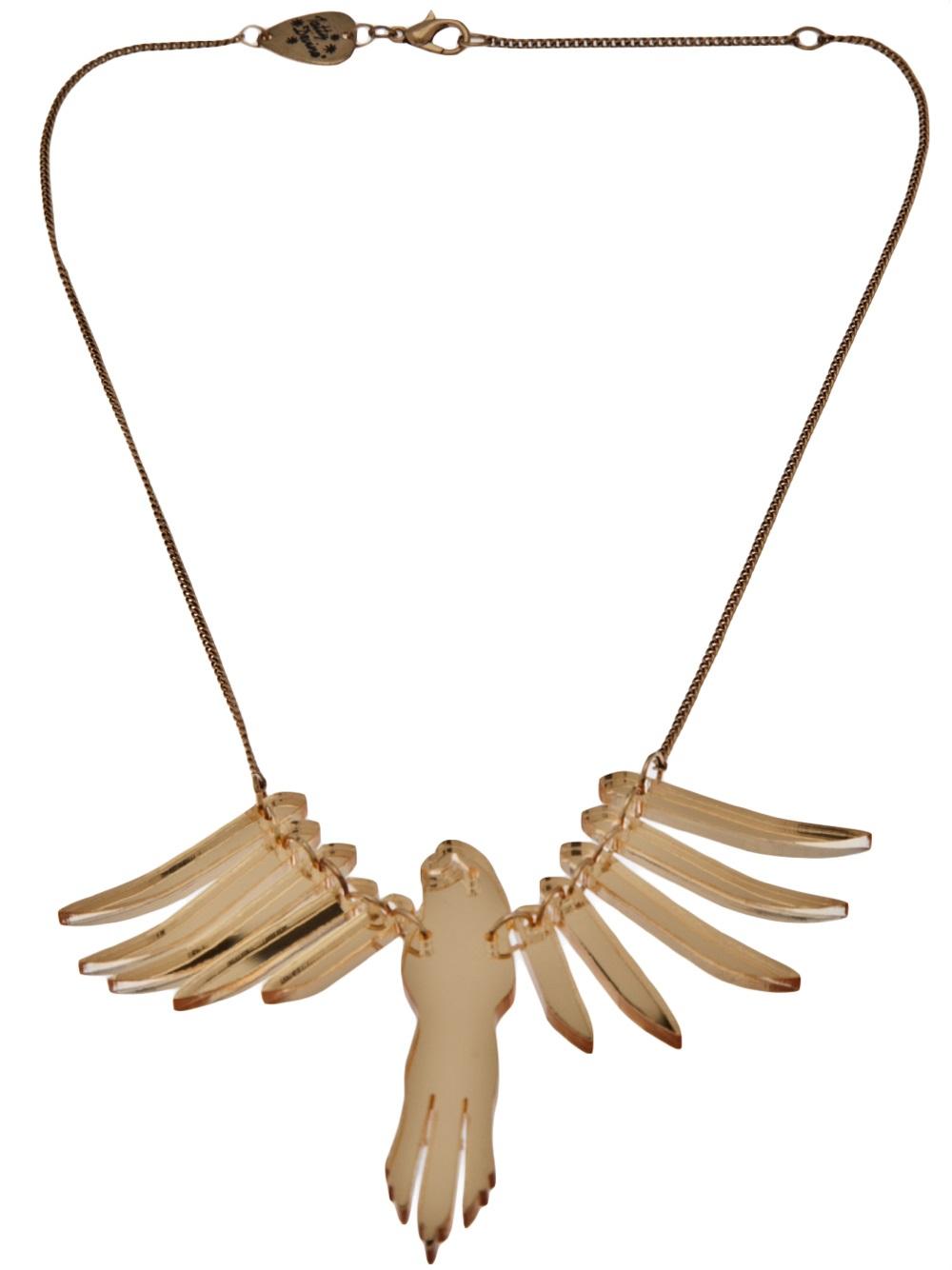 Tatty devine Parakeet Necklace in Metallic | Lyst