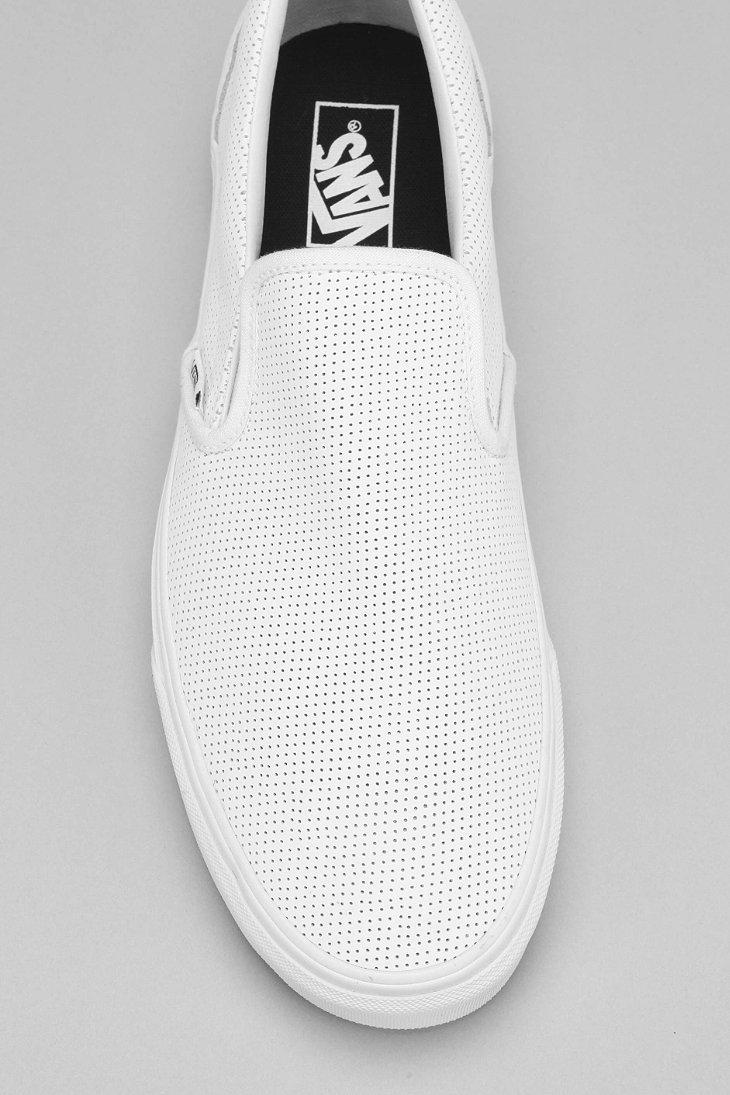 83c54a263e8d Lyst - Vans Leather Slip-on Men s Sneaker in White for Men