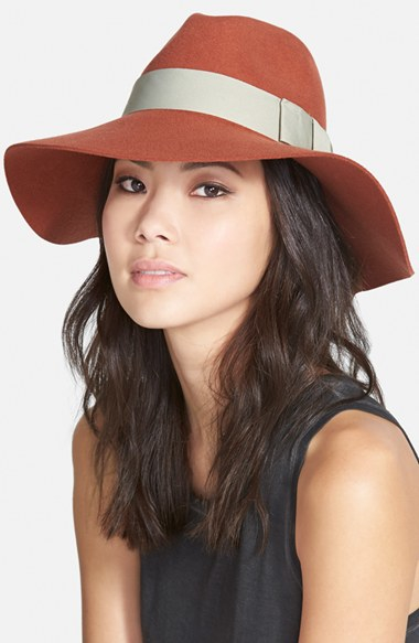 8e269daa4d35 Brixton 'piper' Floppy Wool Hat - Coral in Pink - Lyst