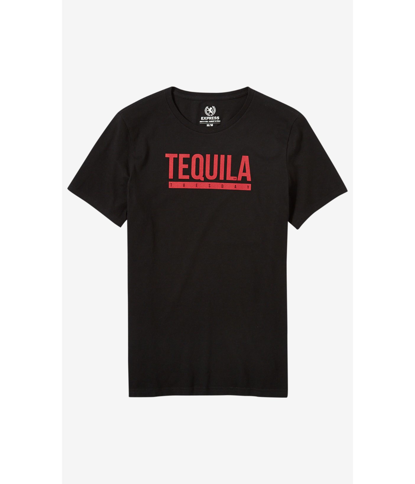 Express Black Tequila Tuesday Graphic T Shirt In Black For