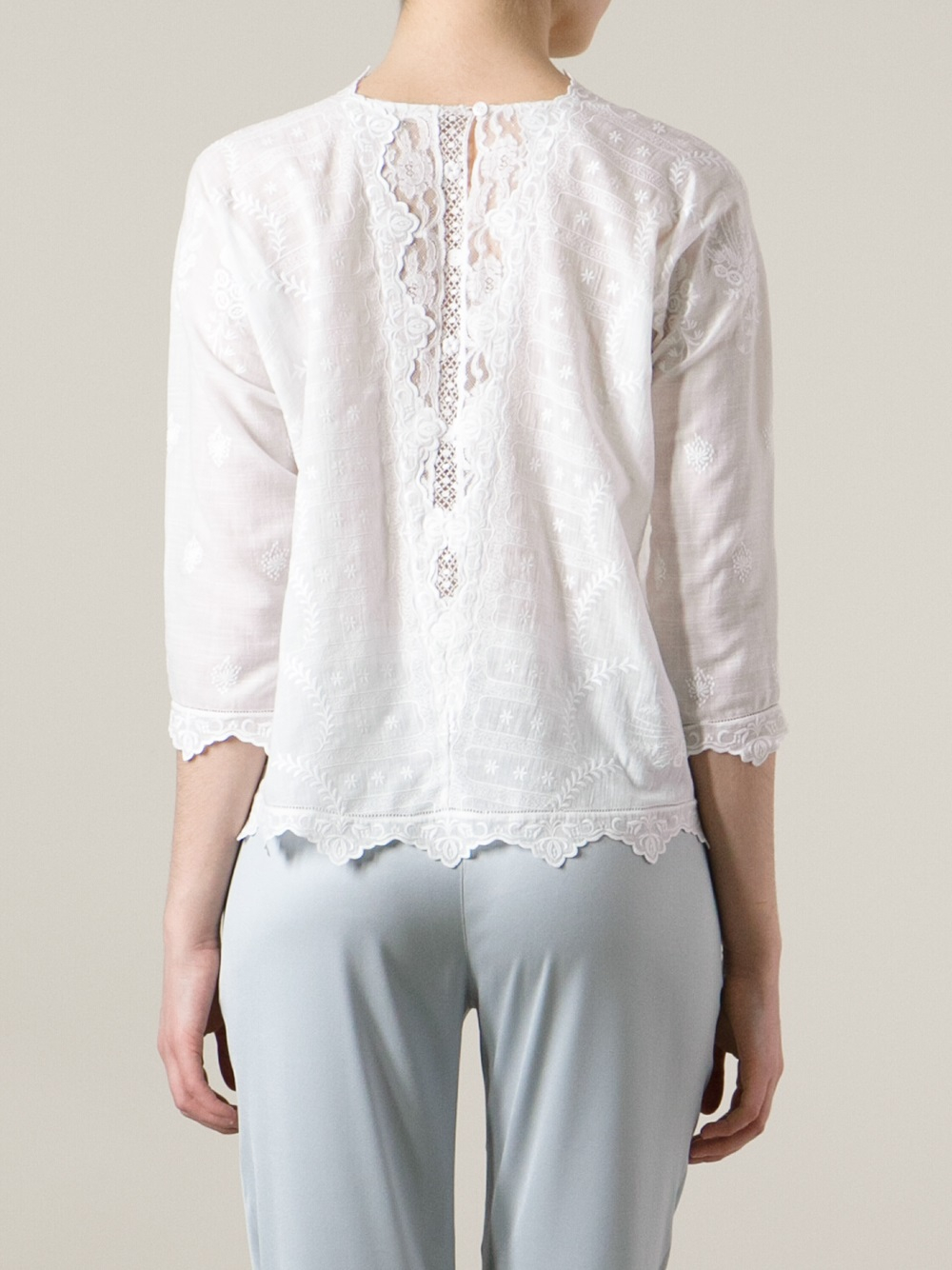White Silk Tunic Blouse