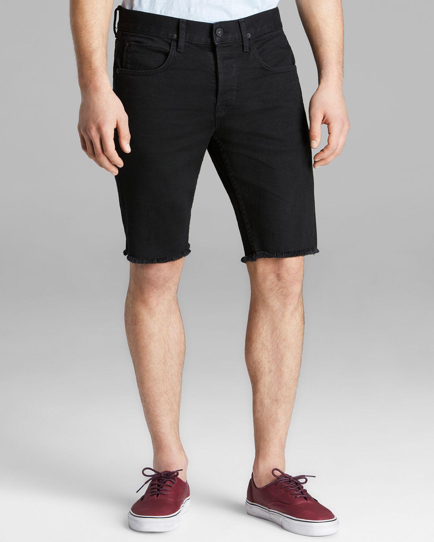 Lyst - Hudson Jeans Hess Cut Off Shorts in Black for Men