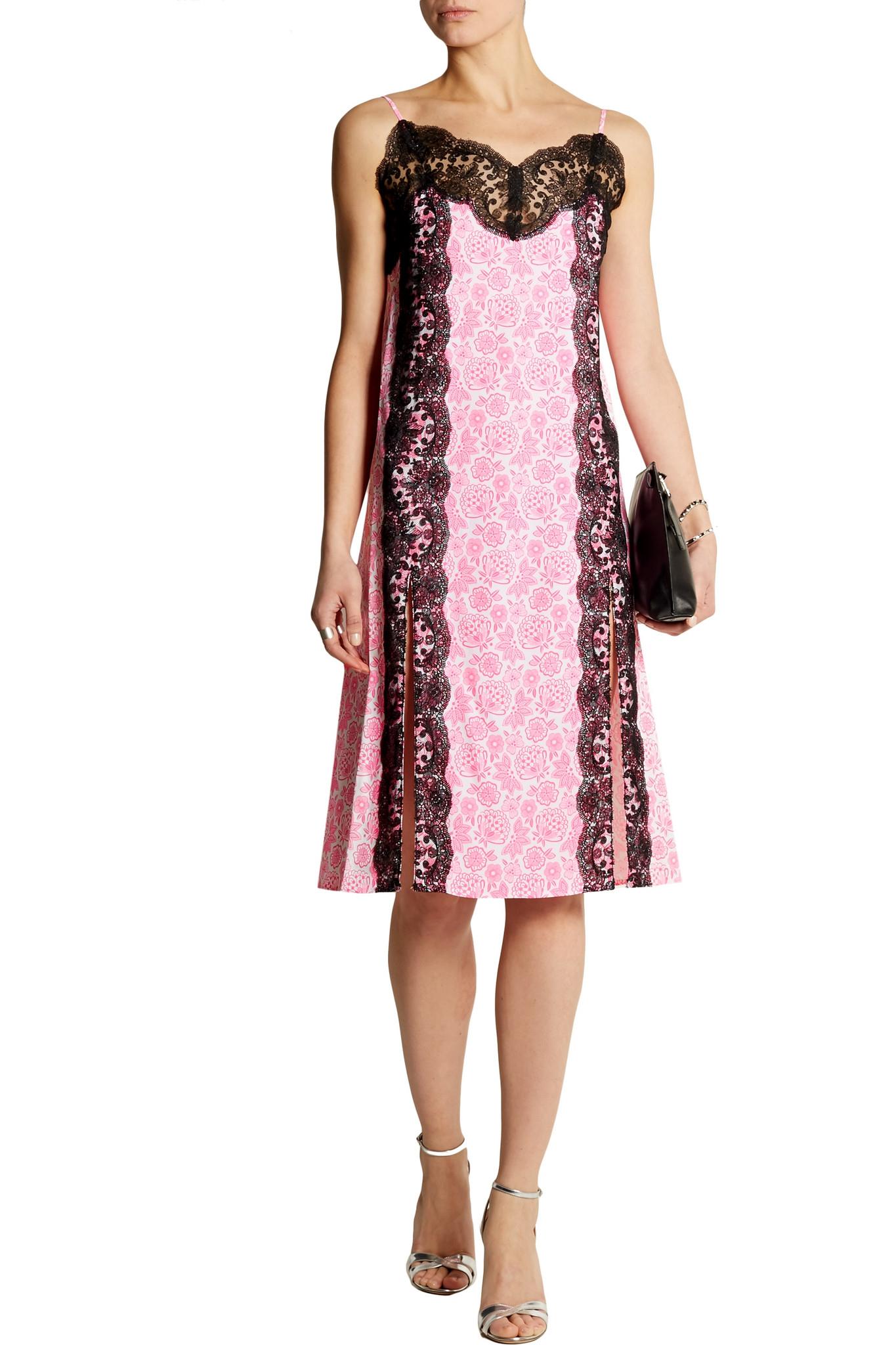Laced-trimmed crepe dress Christopher Kane Outlet Big Sale Cheap Best iZyNa