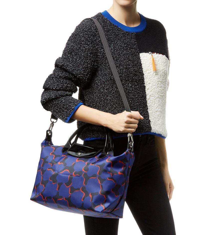 Longchamp Le Pliage Nã©o Fantaisie Medium Handbag in Black - Lyst 91c346cb35070
