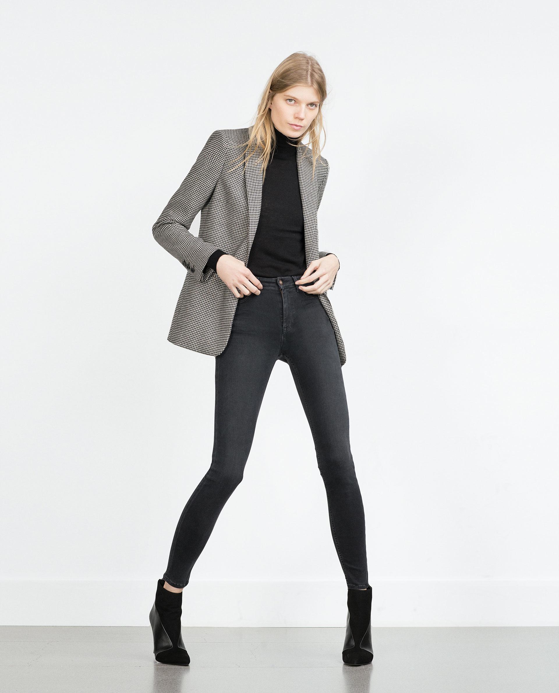 Zara High-waist Jeans in Gray | Lyst