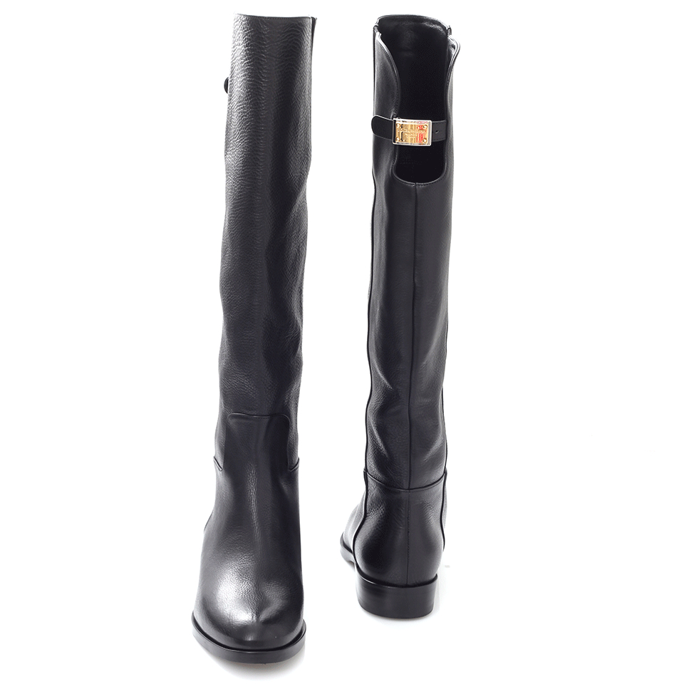 f94957e59 Dolce & Gabbana Flat Riding Boot in Black - Lyst