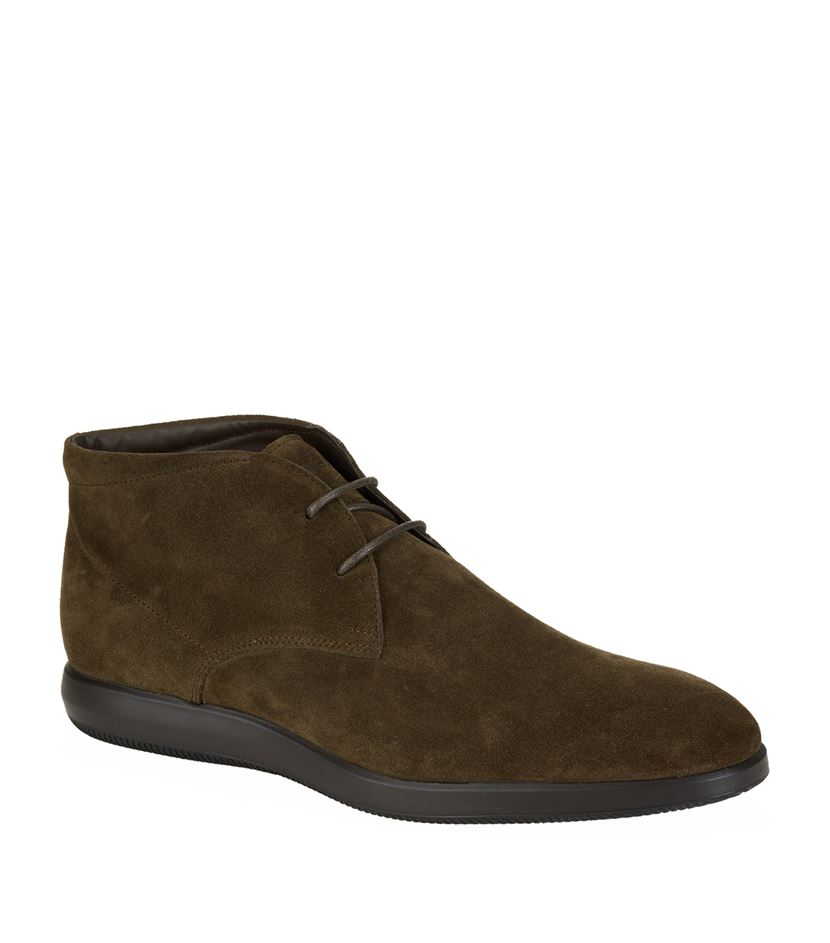 6576e9abea Hogan Suede Chukka Boot in Green for Men - Lyst