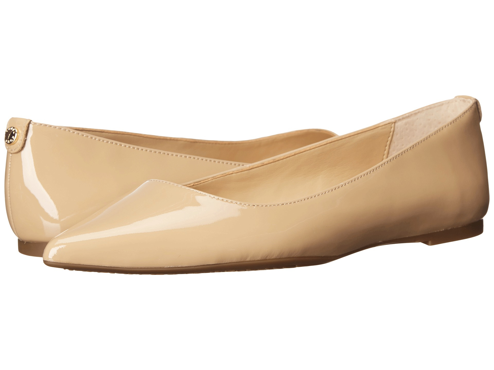 922a55697fe Lyst - MICHAEL Michael Kors Arianna Flat in Natural