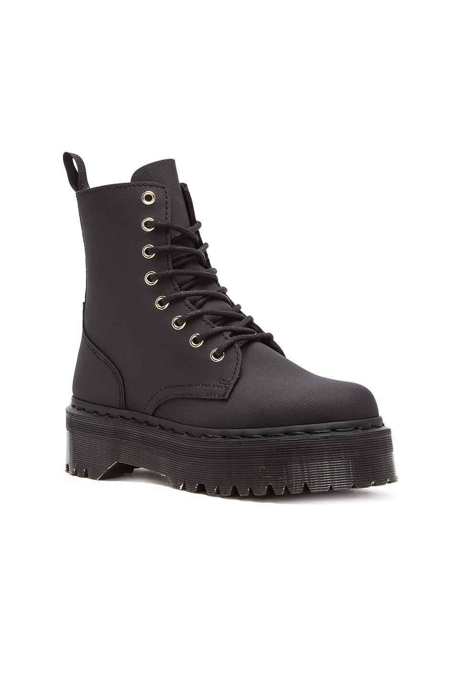 Lyst Dr Martens Jadon 8 Eye Leather Boots In Black