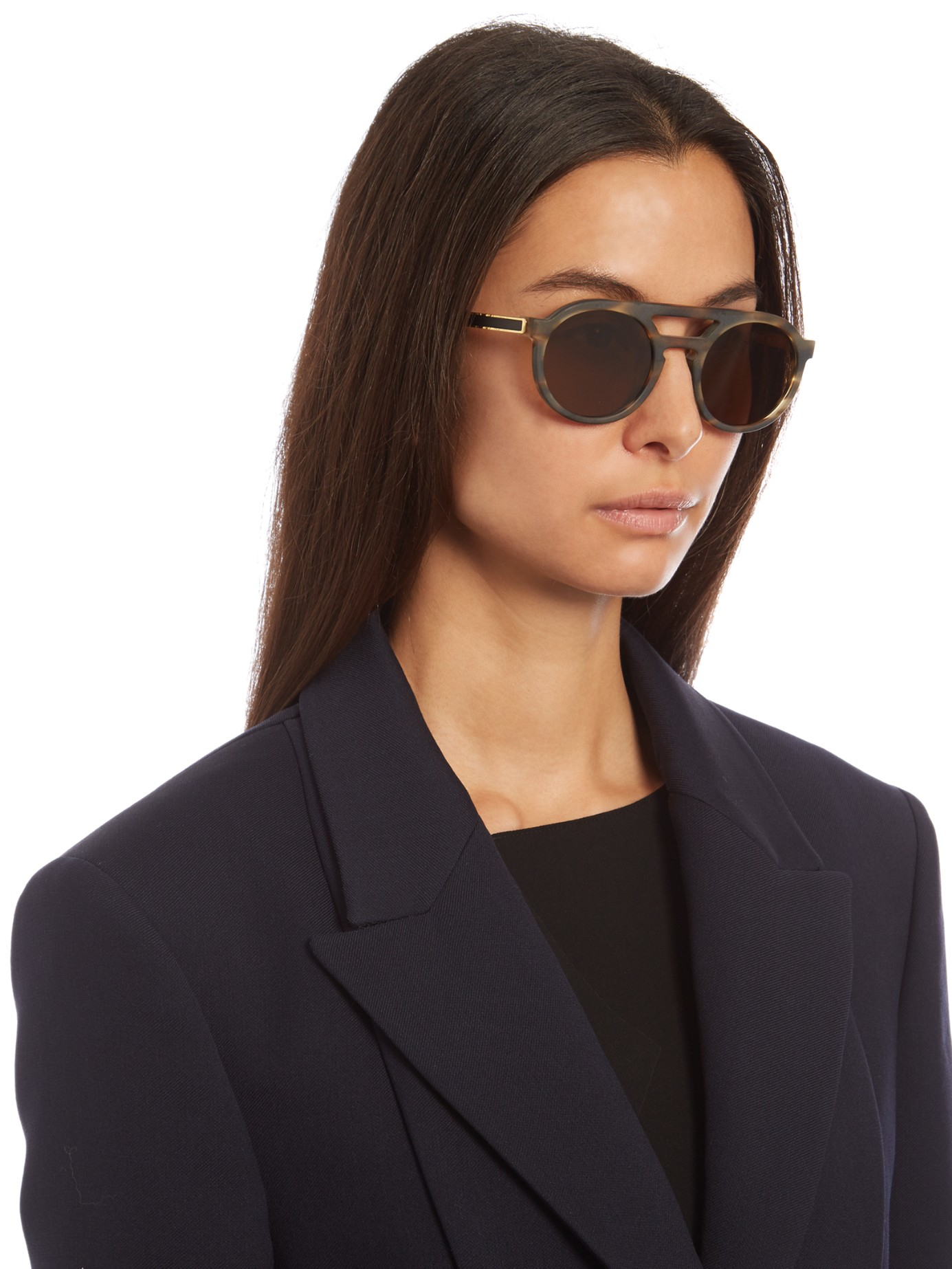 1c76a47386 Lyst - Thierry Lasry Gravity Round-frame Sunglasses in Brown