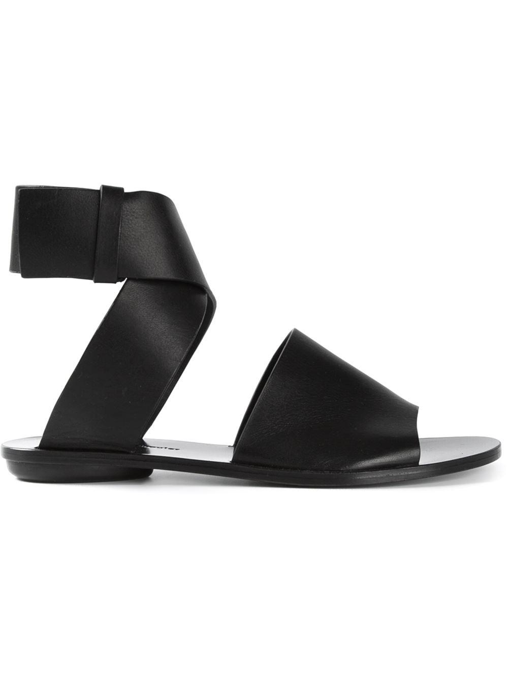 Proenza Schouler Coiled Strap Sandals In Black Lyst