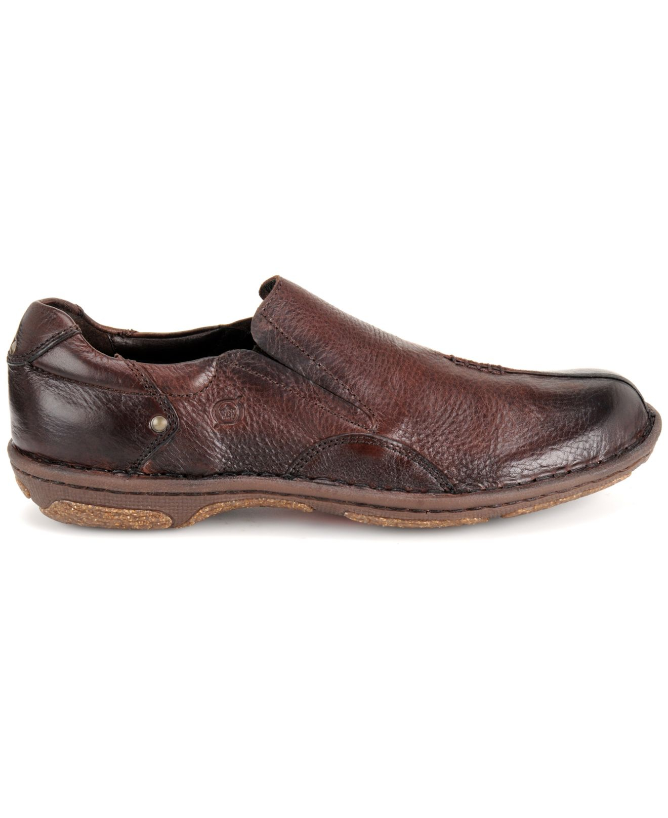 born rizzo split toe slip on shoes in brown for lyst