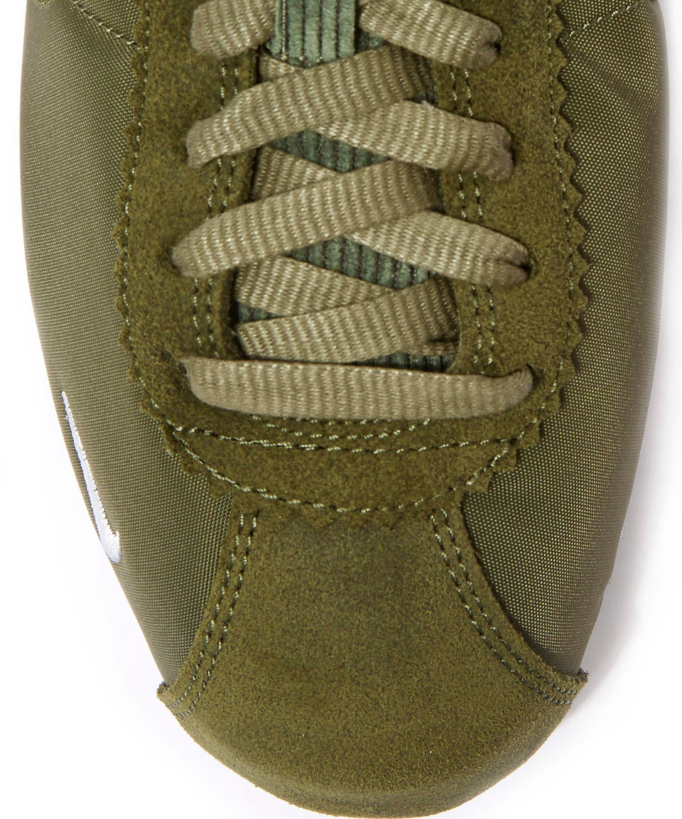 online store 2415c e9c23 ... new zealand lyst nike olive classic cortez trainers in green 4566c 9eff9