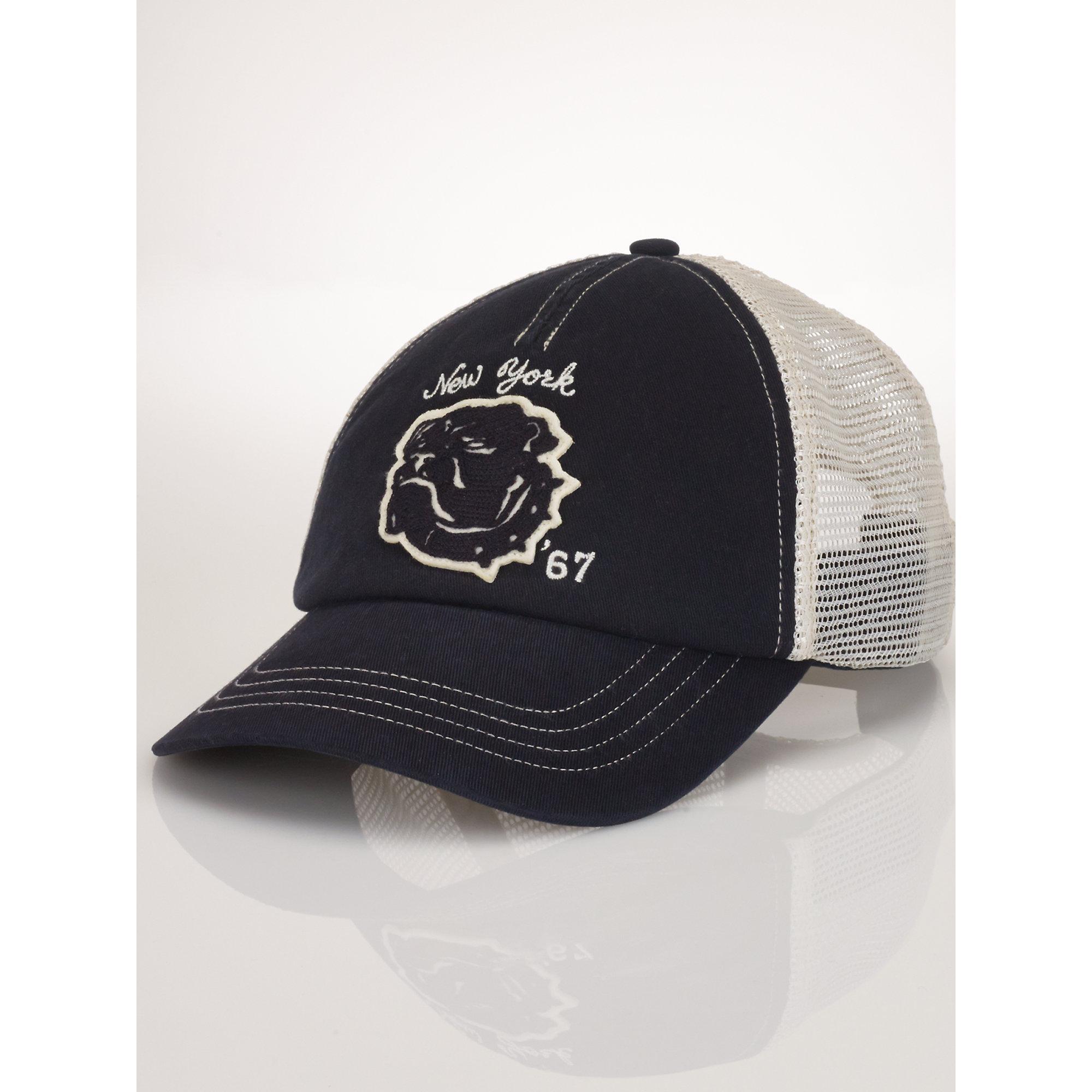 d8097d3b Polo Ralph Lauren Mesh Utility Trucker Cap in Black for Men - Lyst