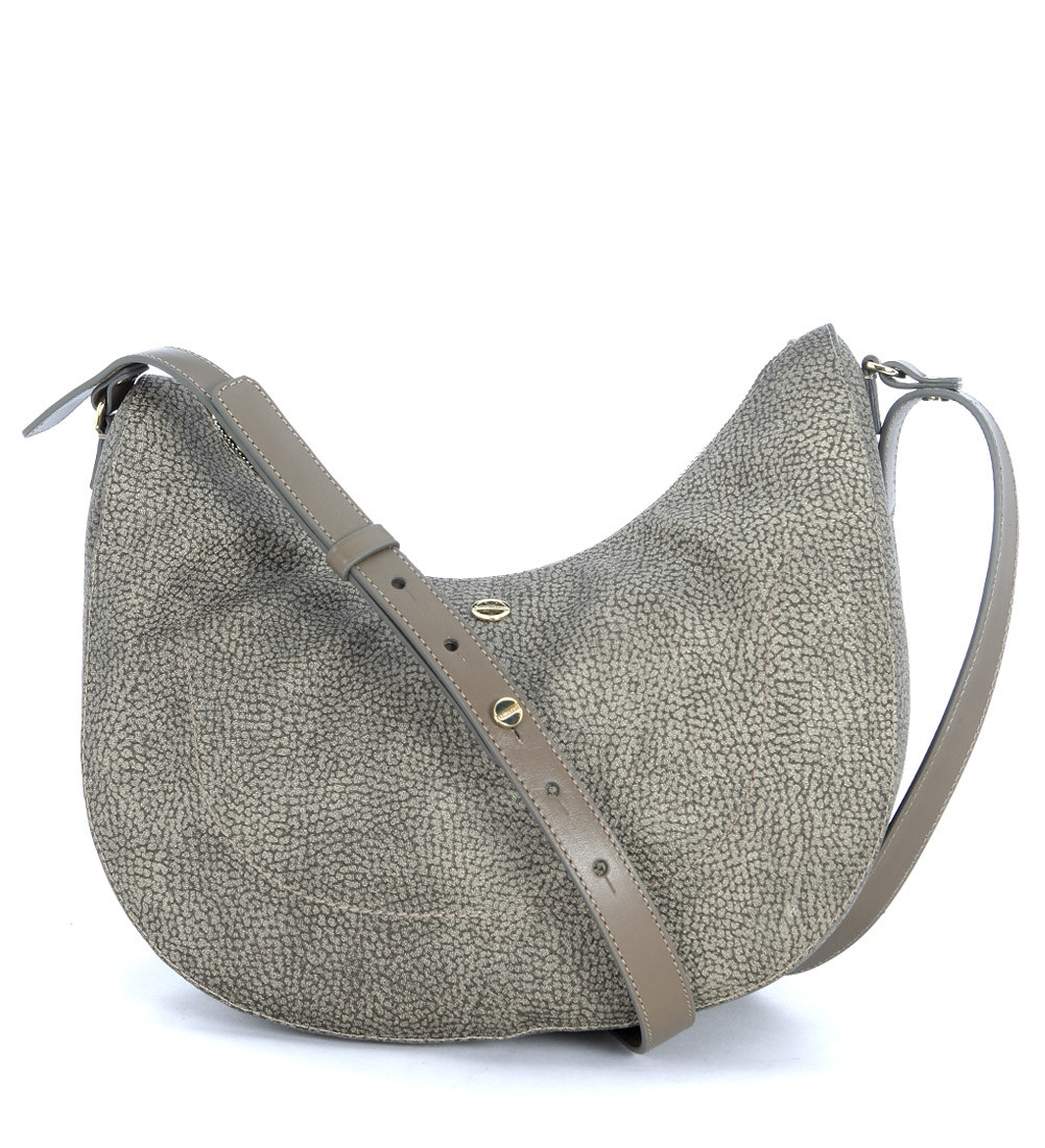 Borbonese Luna Bag Small Shoulder Bag In Grey Mud Graffiti in Gray ...