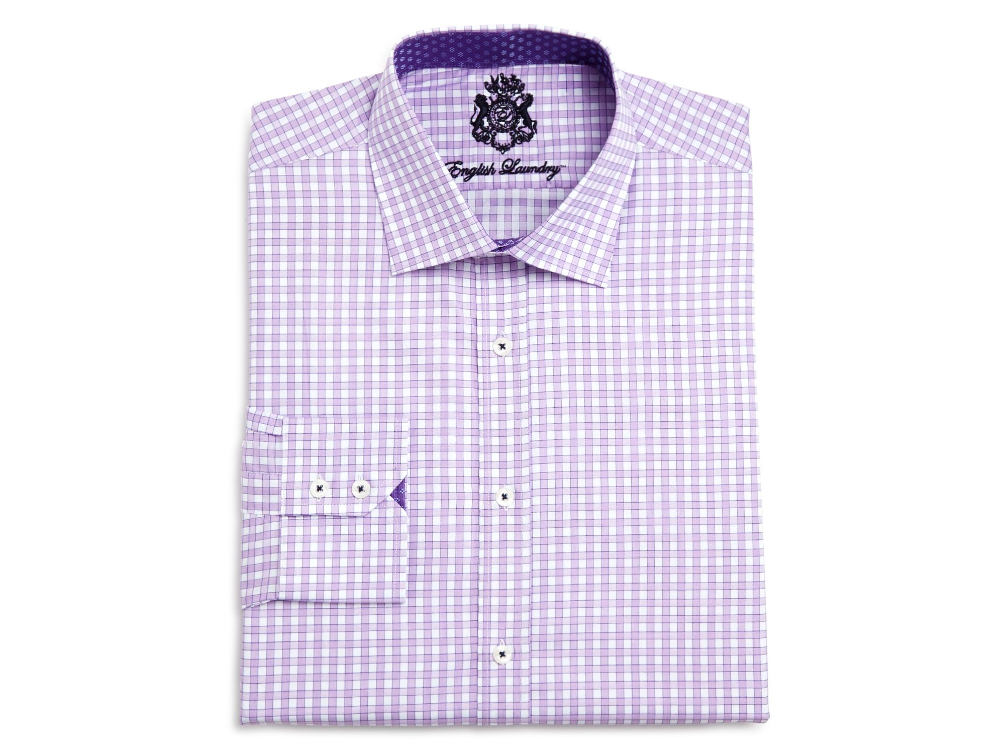 English laundry check classic fit button down dress shirt for Classic white dress shirt