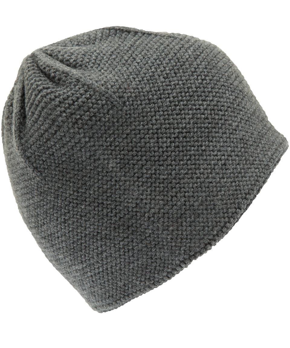 lyst folk grey textured knit wool beanie hat  gray  men