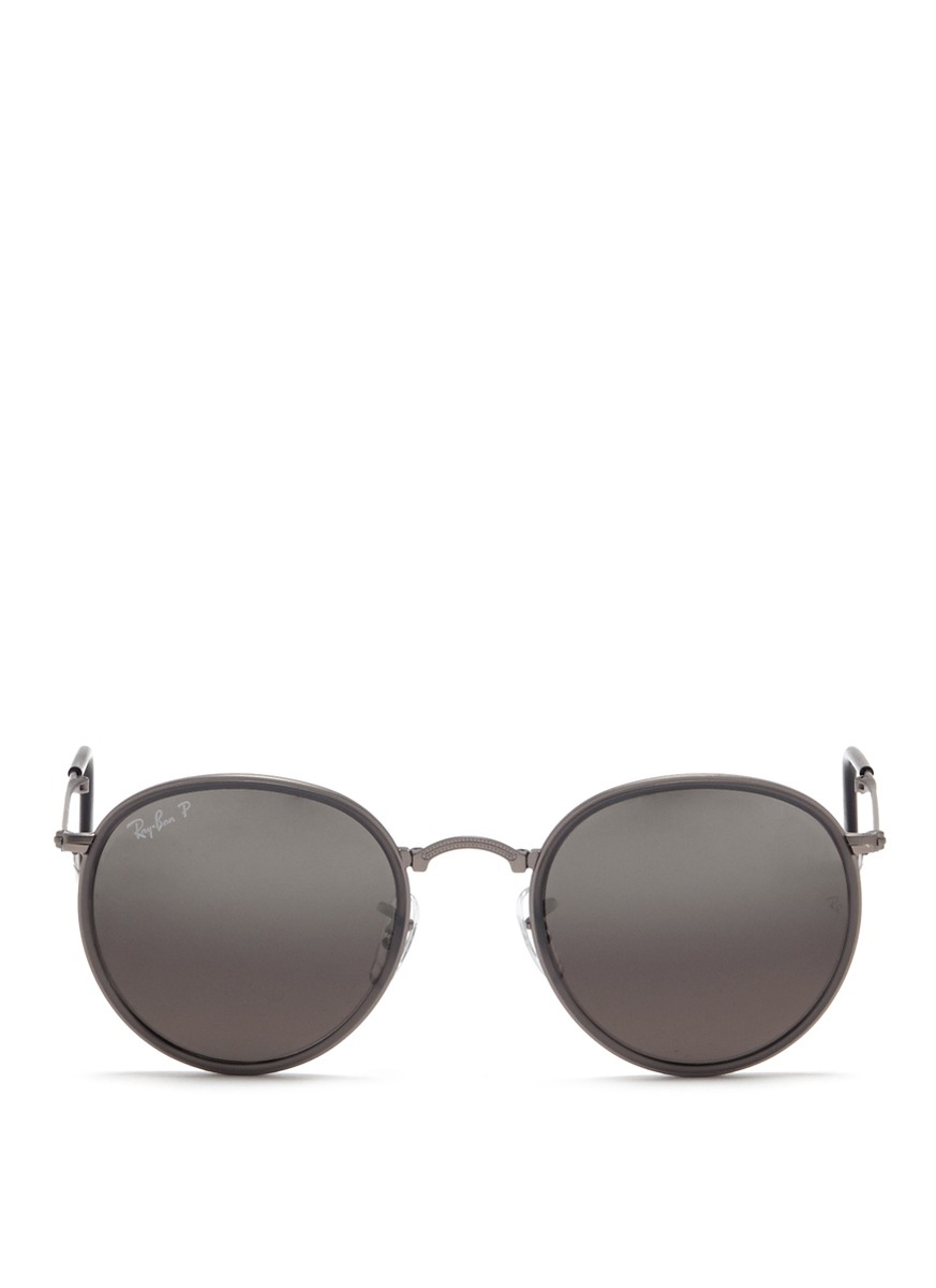 ray ban round folding classic sunglasses  gallery