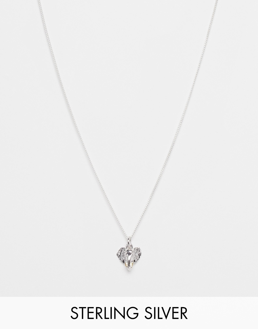 Lyst bill skinner sterling silver elephant head necklace in metallic gallery aloadofball Images