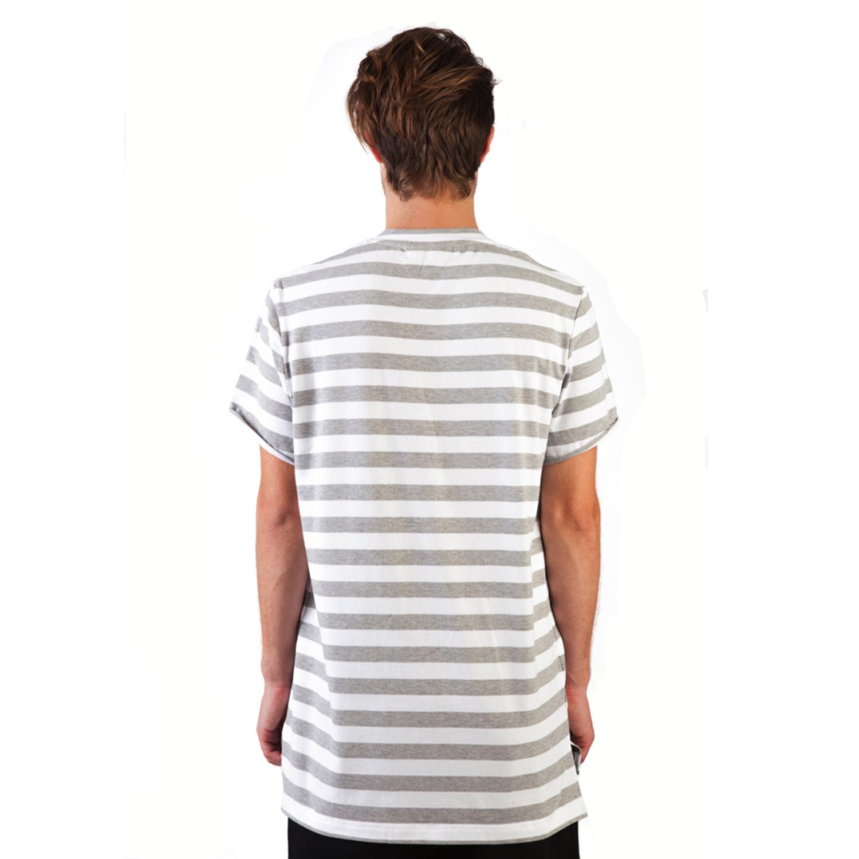 Lyst nd b long stripe t shirt in gray for men Grey striped t shirt