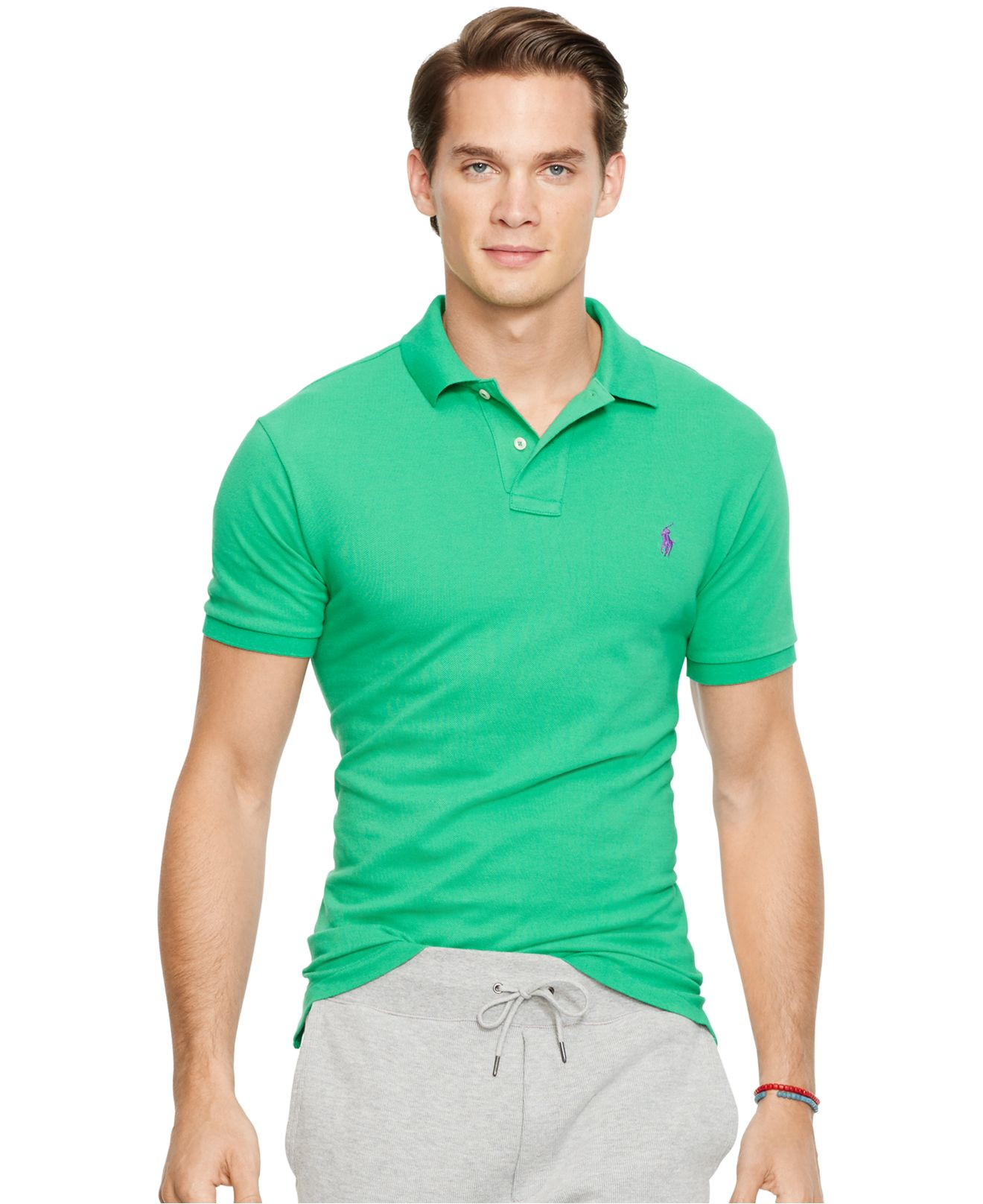 Polo ralph lauren men 39 s custom fit mesh polo shirt in for Ralph lauren custom fit mesh polo shirt