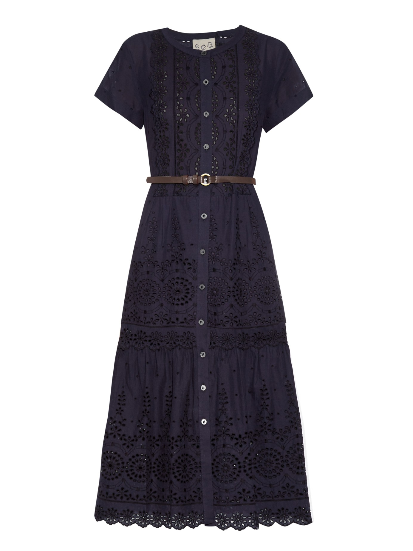 Sea Daisy Broderie-anglaise Cotton Dress in Blue  Lyst