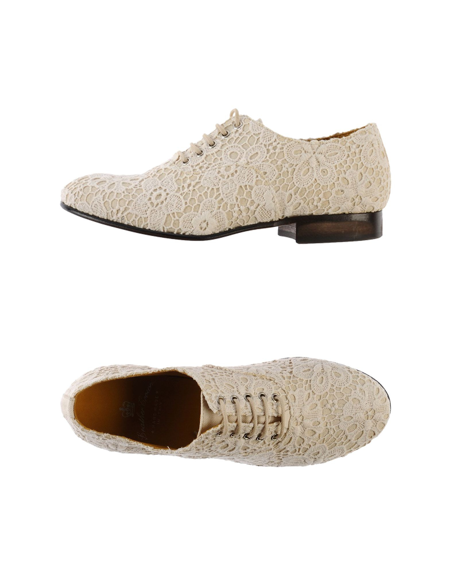 leather crown lace up shoes in white ivory lyst