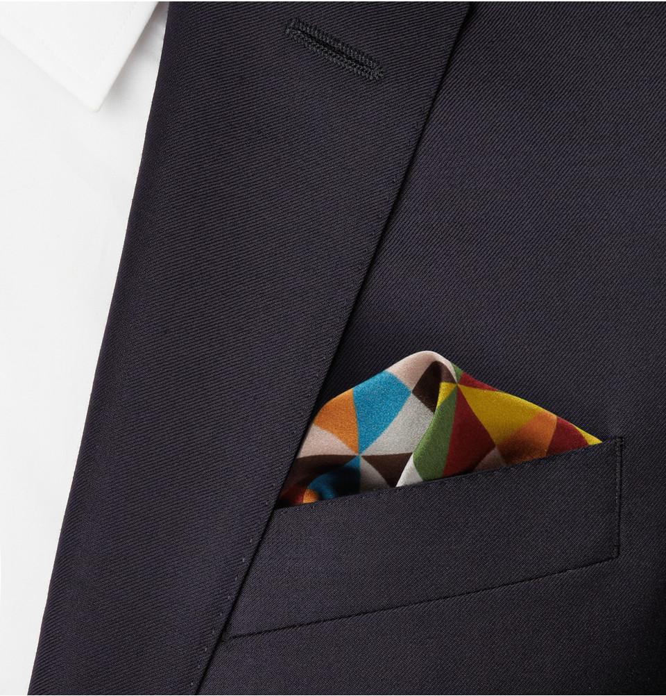 Floral-print Silk-twill Pocket Square Paul Smith eErFaLyE