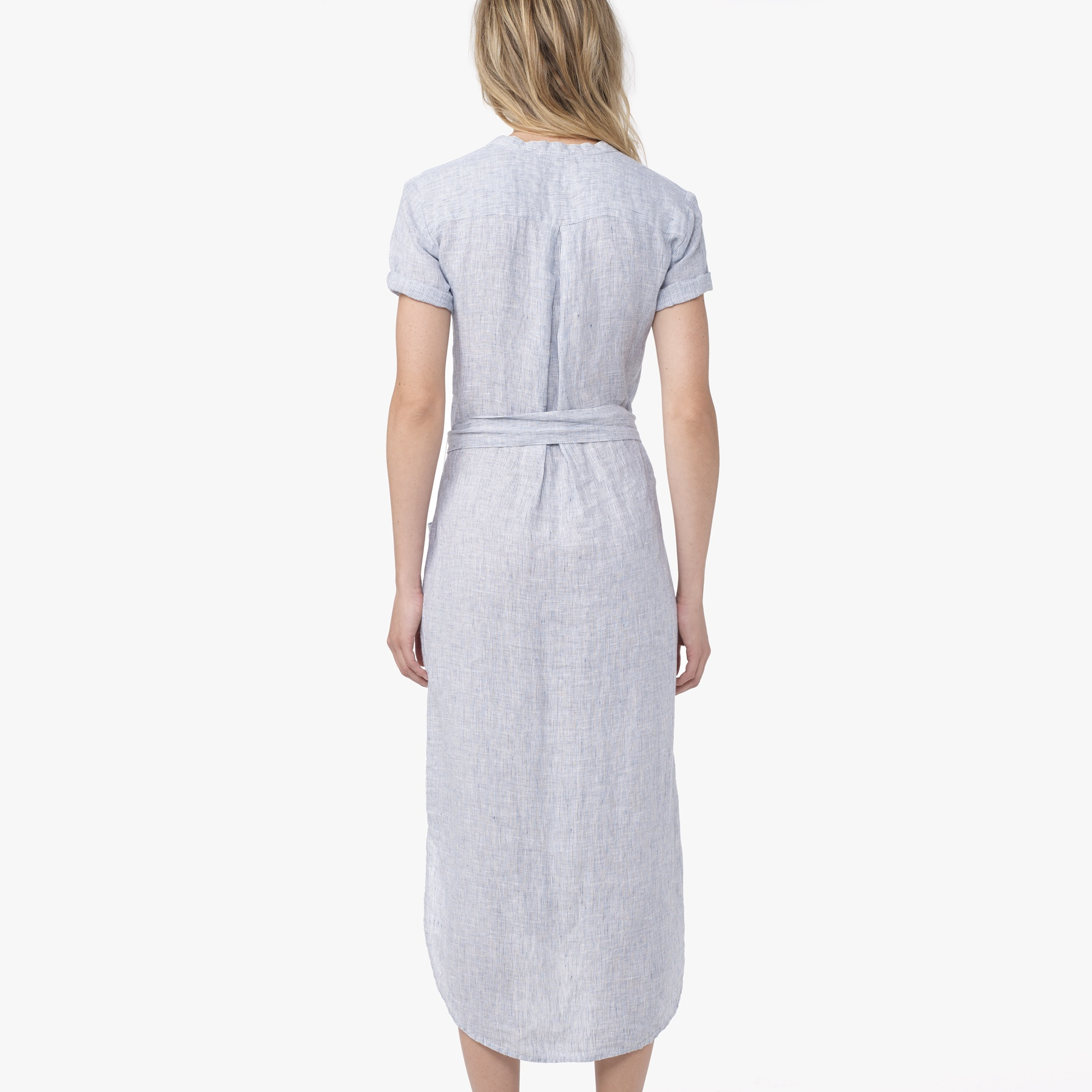 87118e9e1df James Perse Linen Stripe Shirt Dress in Blue - Lyst