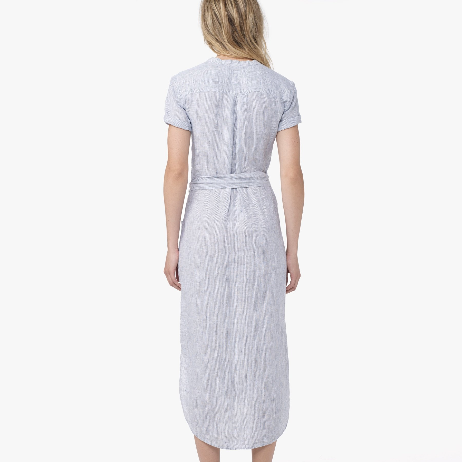 7e9fd15210 James Perse Linen Stripe Shirt Dress in Blue - Lyst