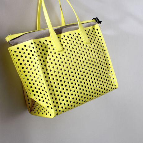 Zara Perforated Shopper Bag Zara Large Perforated Shopper