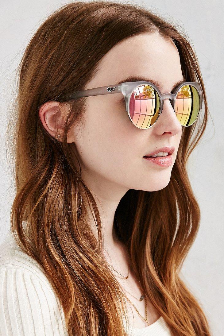 Lyst Quay Harlem Sunglasses In Gray