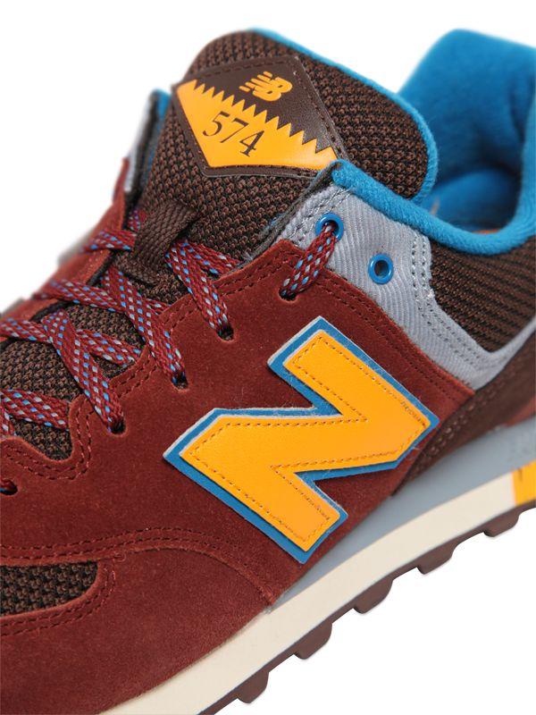 new balance 574 brown yellow
