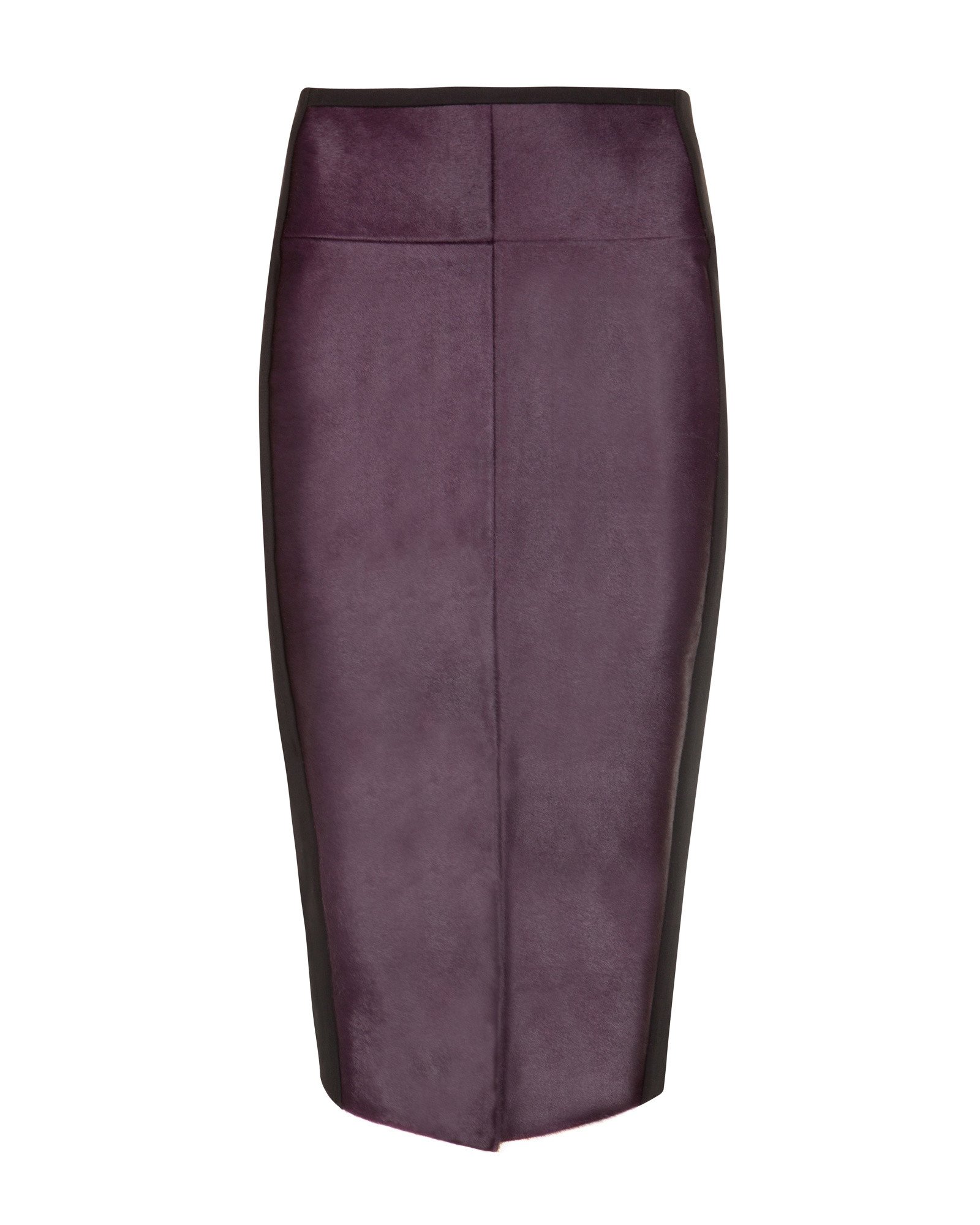 Ted baker Pony Skin Effect Leather Pencil Skirt in Purple | Lyst