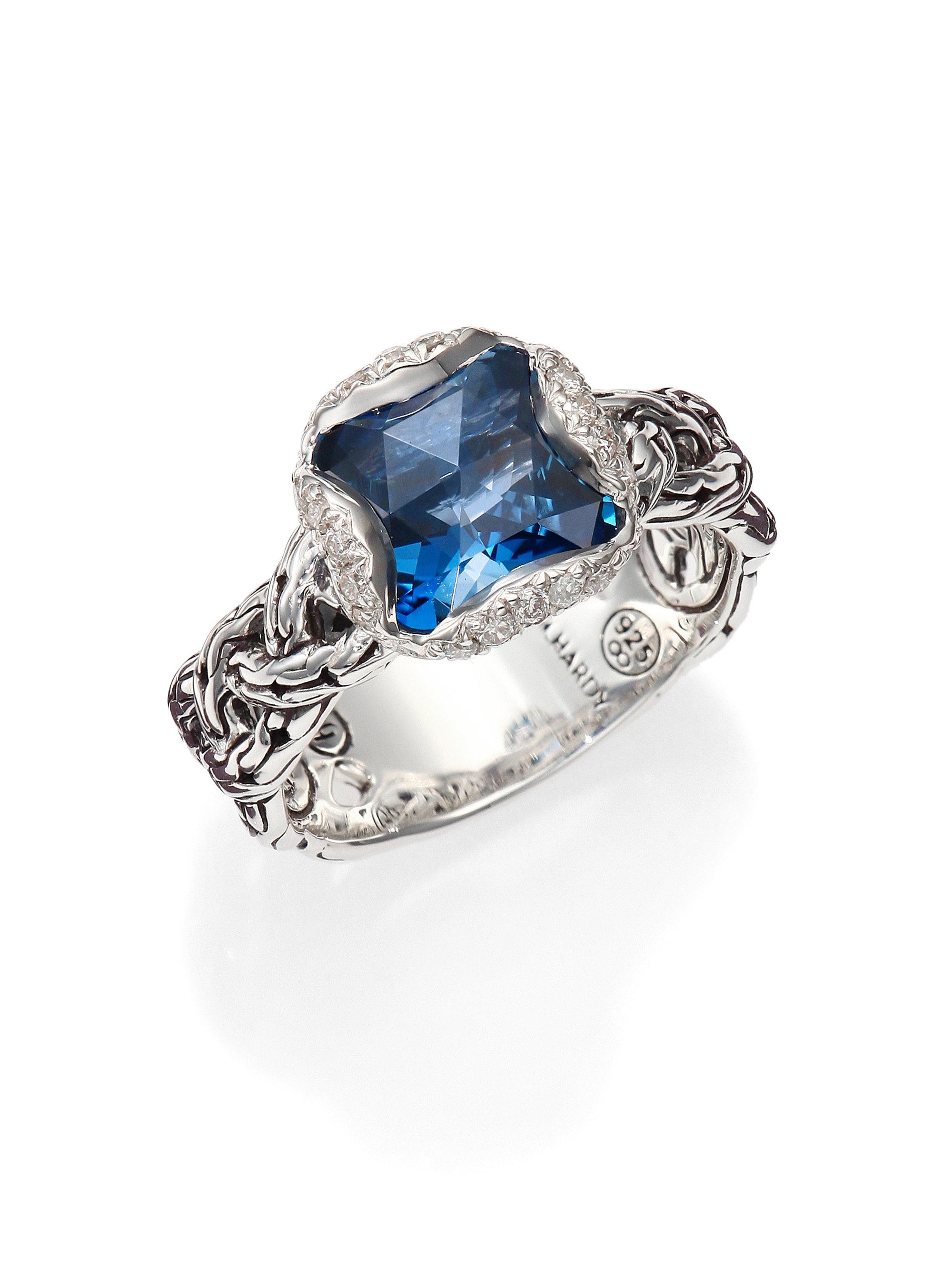 John Hardy Classic Chain London Blue Topaz Diamond